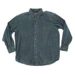 Wrangler Men's Button Shirt Denim Long Sleeve XL
